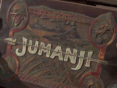 Jumanji Board game//Cover plaque silver//black
