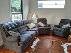 Super comfortable 3 seater couch and 2 lazy boy recliners