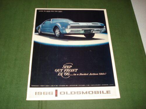 VINTAGE 1966 OLDSMOBILE CAR BROCHURE