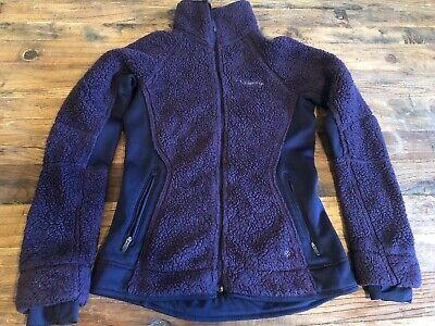 Columbia Pearl Plush II Long Fleece fur Fuzzy Full Zip Winter Jacket Women's XS Columbia Pearl Plush Fleece