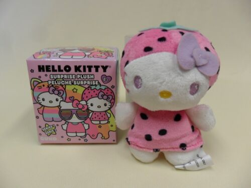 Gund NEW Hello Kitty STRAWBERRY KITTY Blind Box Mini Plush Mystery Opened
