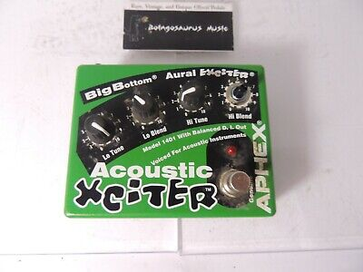 Aphex Acoustic Xciter Aural Exceiter Effects Pedal Preamp EQ DI Direct Box