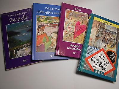 4 Romane (für 12-16 Jahre, Mädchen??). Wie neu! Gebunden. Geschenk?