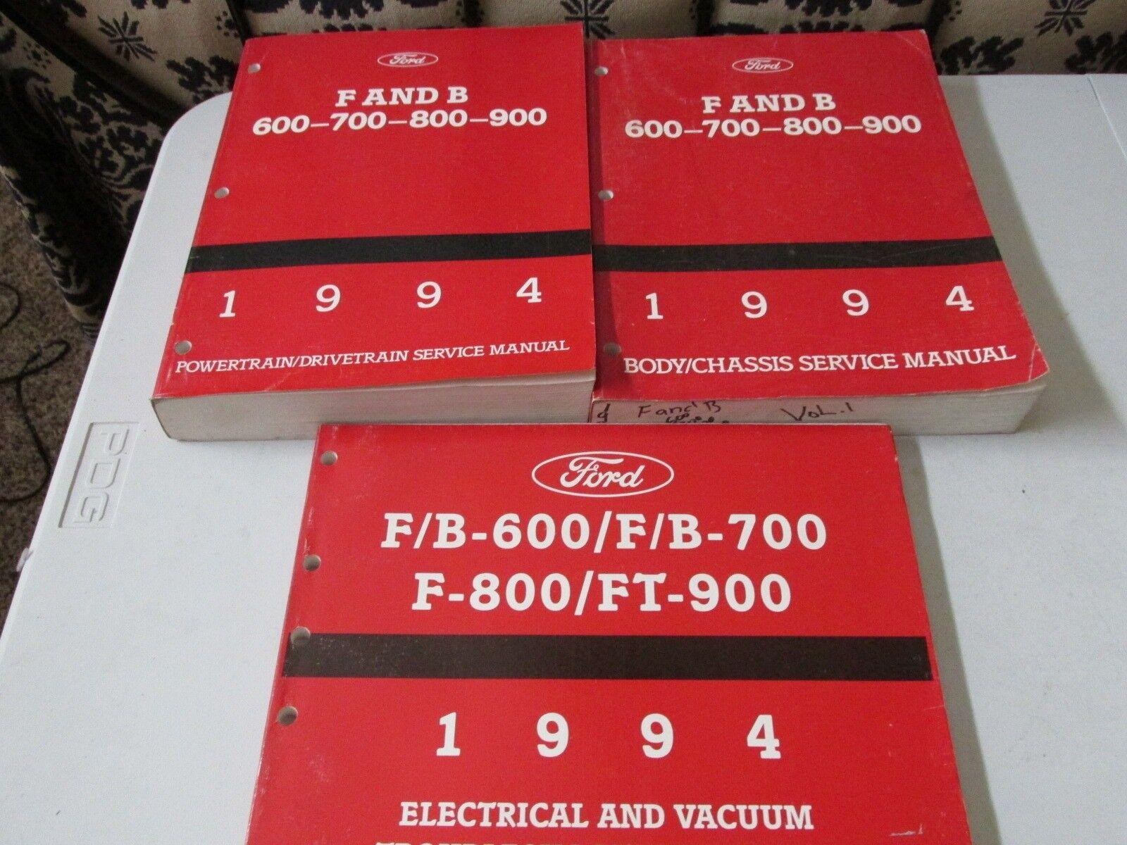 1994 F B 600 700 800 900  Service Repair Workshop Manuals + EVTM