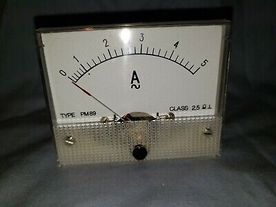 New Analog Panel Meter Ac 0-5 Amperes Gme Pm89 Class 2.5 Make An Offer