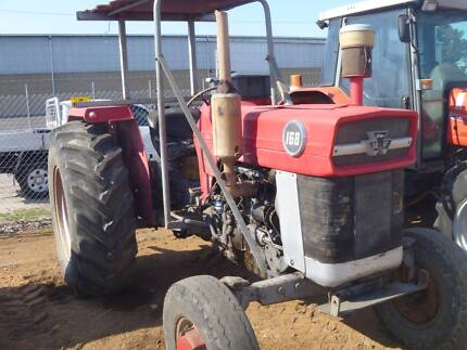 """MASSEY FERGUSON 168 TRACTOR WITH 80"""" HOWARD ROTARY HOE Kewdale Belmont Area Preview"""