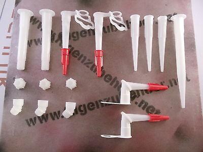 Düsenset 16-teilig für Kartuschen Silikondüsen Düsen Kartuschendüsen Formteile