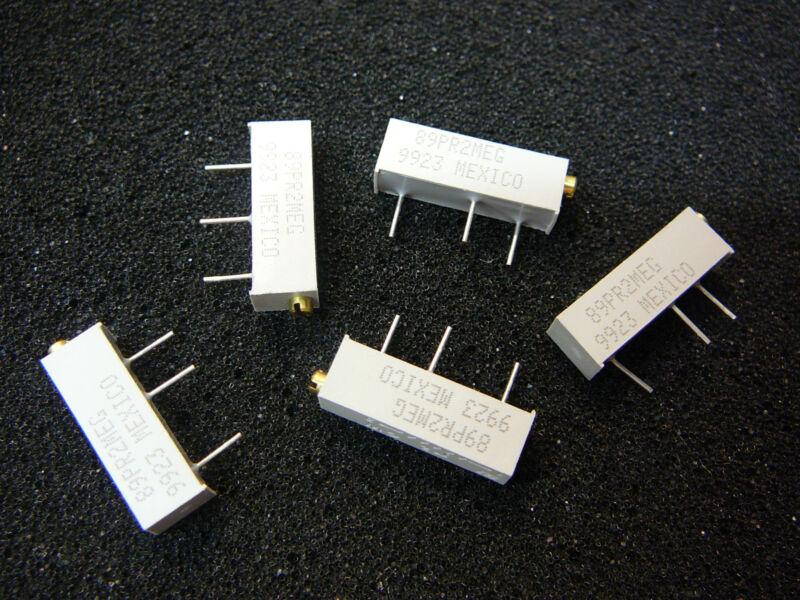 BI TECHNOLOGIES 89PR2MEG Res Cermet Trimmer 2M Ohm 3/4W 20-Turn **NEW**  Qty.5