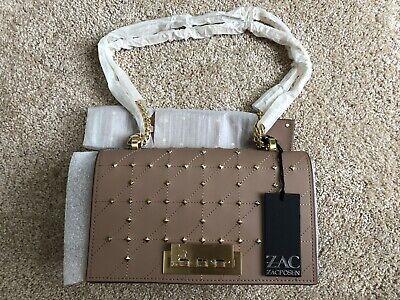 NWT AUTHENTIC Zac Posen Earthette Crossbody Leather Chain Shoulder Bag Purse New