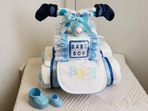 Four Wheeler Baby Boy Diaper Block ATV Baby Shower Diaper Cake Centerpiece