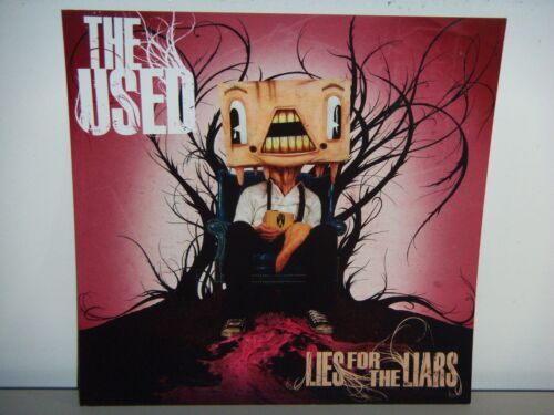 2007 THE USED LIES FOR THE LIARS CARDBOARD PROMO POSTER FLAT