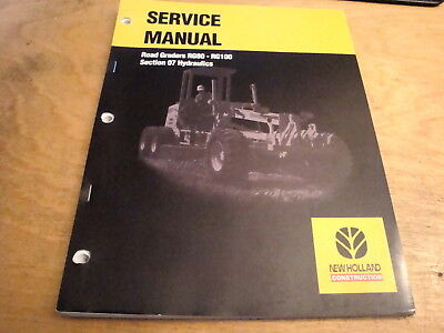 New Holland Rg80 Rg100 Road Grader Hydraulics Service Repair Shop Manual