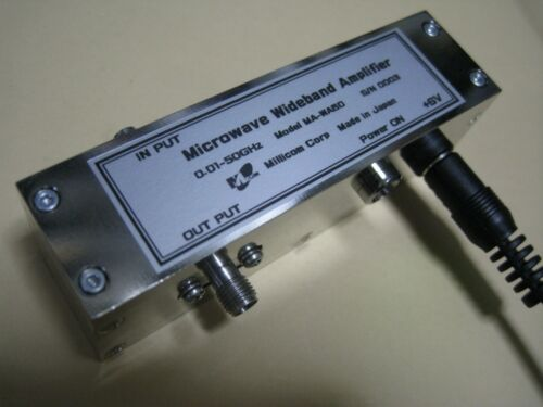 Wide Band RF Amplifier 100kHz-50GHz 16dB@40GHz +12dBm & Frequency Multiplier x3