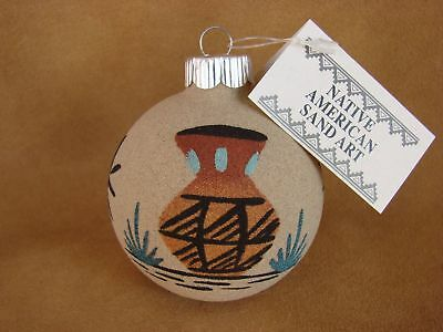 Native American Sandpainting Christmas Ornament! Handmade CO314 CO314