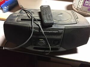 Sony radio and CD player with remote