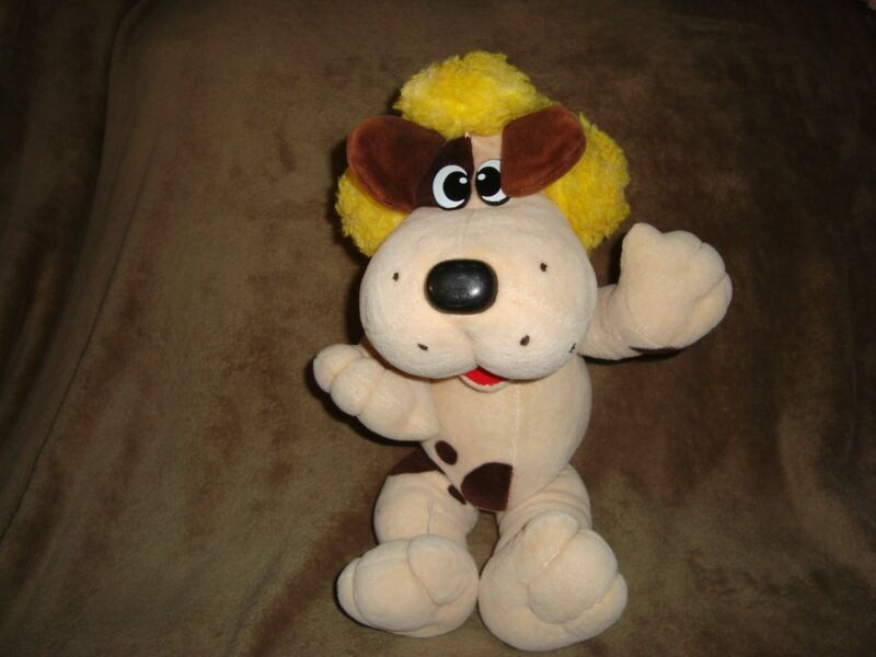"""Tonka Pound Puppy 15"""" Plush Jointed Dog with yellow hair HOWLER"""