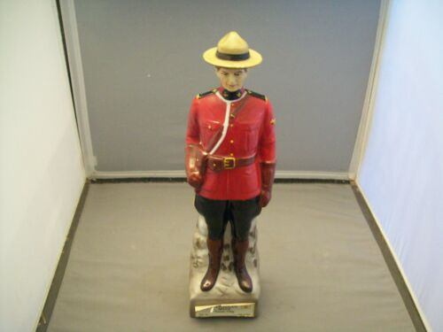 Canadian Mist Whiskey Royal Canadian Mounted Police Decanter Bottle