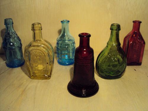 Lot 5 Wheaton NJ Miniature Wheaton Glass Bottles