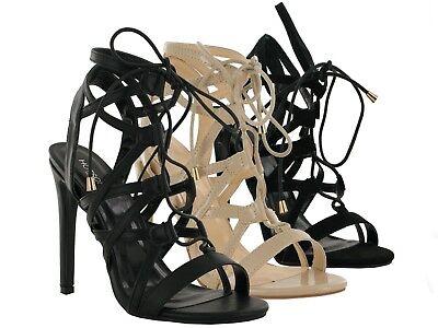 Ladies New Qupid High Heel Fashion Stunning Laces Women Sandal UK Size  (Qupid Womens Schuhe)