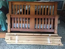 Solid timber Queen bed with mattress Plumpton Blacktown Area Preview