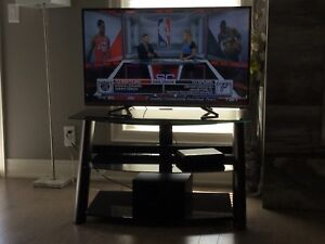 Glass and Wood TV Stand **Moving**