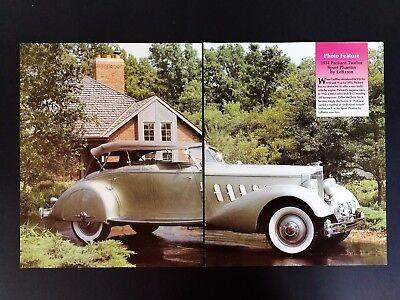 1934 Packard Twelve Sport Phaeton -  Original 4 Page Article  Free Shipping  for sale  Washington