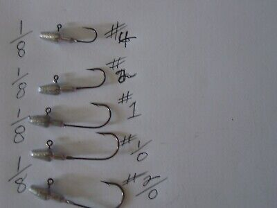 15 Bullet Jig heads your choice 1/8,1/4  (you pick the weight.and Hook -