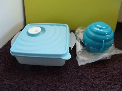 Tupperware NEW Crystalwave Large Square Container & Cupcake Holder  (Large Cupcake Holders)