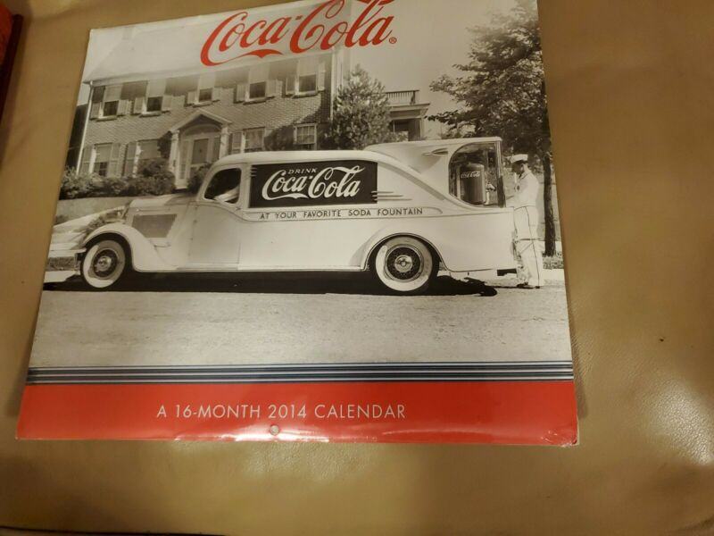 Coca-cola 16 Month Calendar (2014) New Black and White pictures