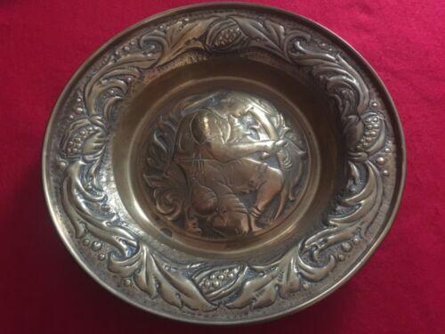 Art & crafts, brass bowl, about 1890