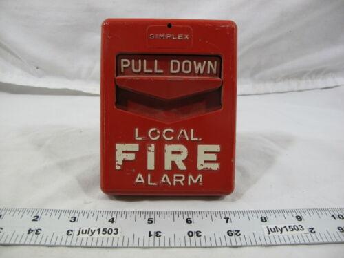 (1) Vintage Simplex 4251-111 Fire Alarm Pull Station (X)