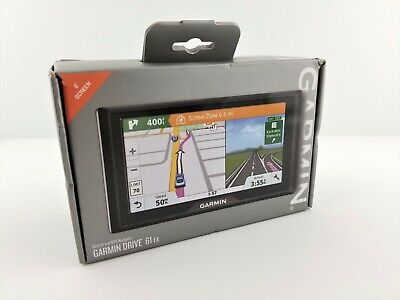 "Garmin Drive 61 EX GPS Navigator 6"" Black Touch Screen w/ Drive Alerts, New Open"