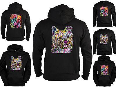 Yorkshire Terrier Sweater - Kapuzensweater - Zip Hoodie Hunderassen Yorkie Neon ()