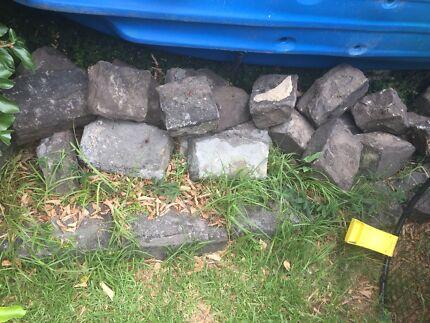 Bluestones for walls or garden beds