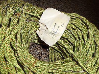 vintage NOS 1964 Hatfield 16 gauge green yellow braided wire 250 feet