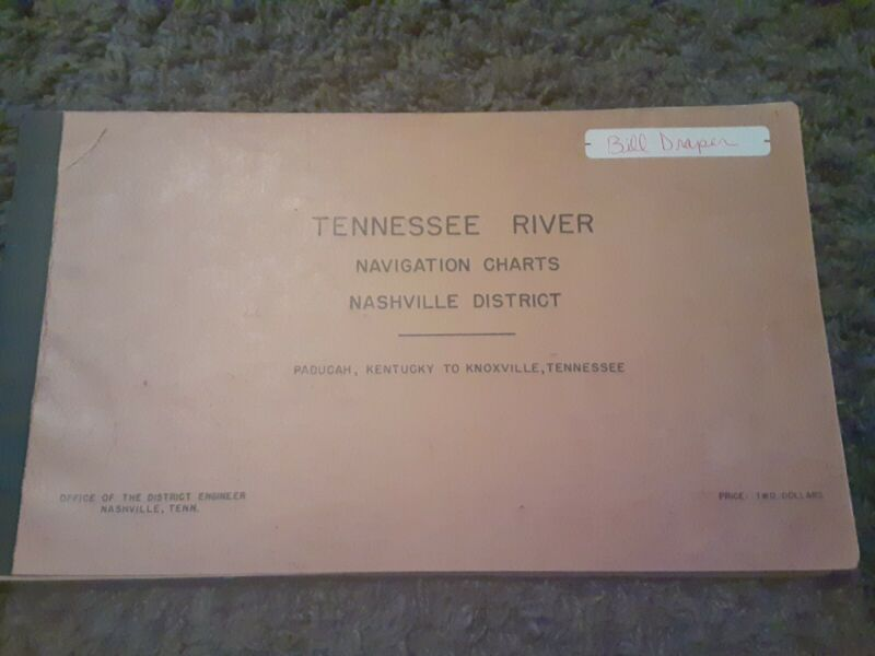 TENNESSEE River Navigation Charts Map 1946 U.S. Army Corps of Engineers
