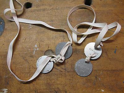 WW1 dog tag sets US world war 1 dog tags reproduction, custom stamping.