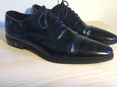 VERSACE COLLECTION Leather Oxford Shoes Brogue Cap Toe SZ 41 USA 8.5-9