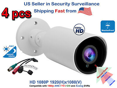 4x Bullet CCTV Security Camera Surveillance Outdoor Day Nigh