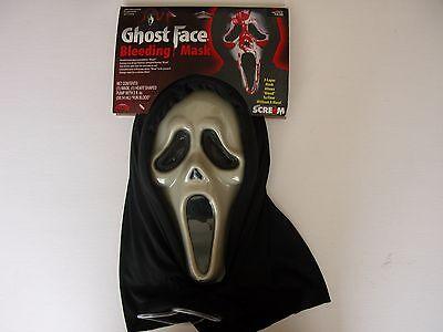 NWT NEW Halloween Costume Adult Ghost Face Bleeding Mask Scream 4