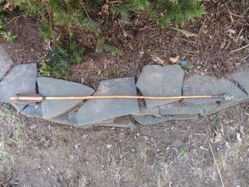 NATIVE AMERICAN INDIAN WOOD ATLATL ARROW 46 5/8 inches Pueblo and Creek Tribes