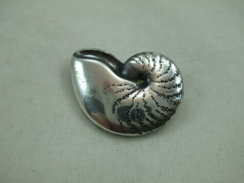 JAMES AVERY Sterling Silver Sea Shell Brooch Pin Retired 925 246E