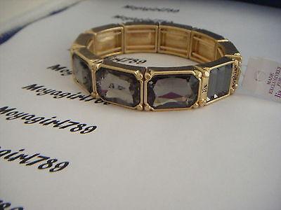 Lia Sophia Versailles Black Diamond Crystal Stretch Bracelet RV - Black Diamond Crystal Bracelet