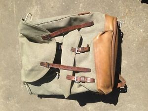 Vintage Swiss army issue back pack 70s