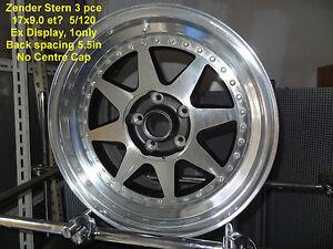 GENUINE-ZENDER-STERN-3pce-WHEEL-17x9-5x120-BMW-ALLOY-RIM-MAG-SPARE
