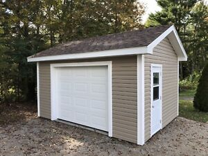 Shed with concrete slab