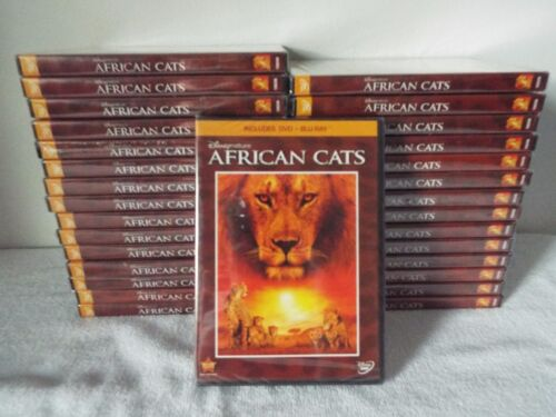African Cats-30 sets-New-Factory Sealed-DVD + Blu-Ray