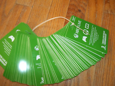 Microsoft Xbox Live Gold 3 Month Membership Electronic Delivery  3 Day Hold