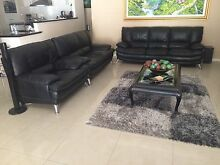 Leather Lounge Black Full Leather includes coffee table. Canning Vale Canning Area Preview