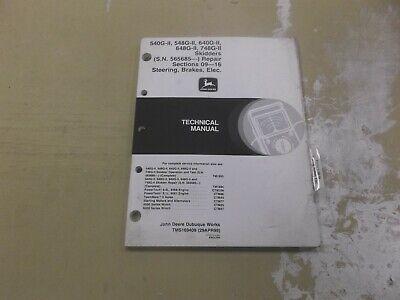 John Deere 540g-ii Skidder Steering Brakes Electric Wiring Repair Manual Tm1694